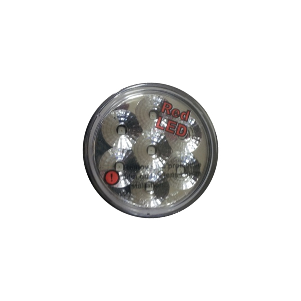 "2"" Clear/Red LED Marker Light Low Profile"
