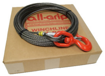 7/16 inch 50 ft. Fiber Large Hook Winch Cable WL07050FZS