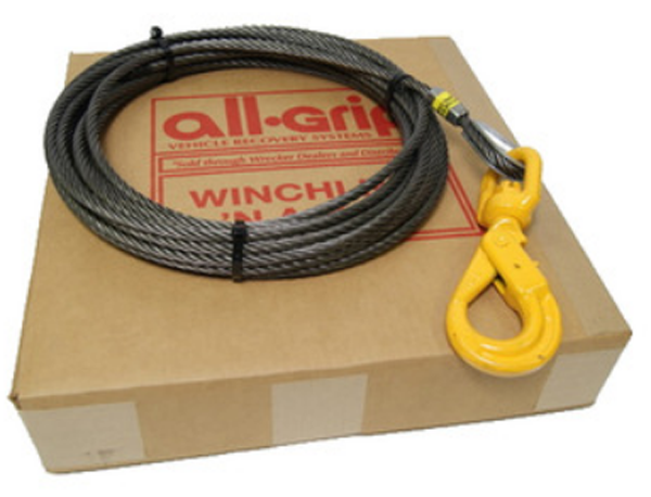 1/2 inch 100 ft. Steel Winch Cable WL08100SSL