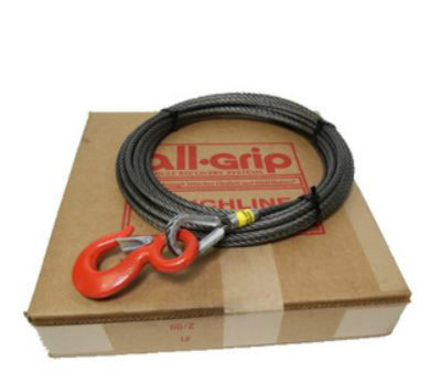 7/16 inch 75 ft. Fiber Large Hook Winch Cable WL07075FZ