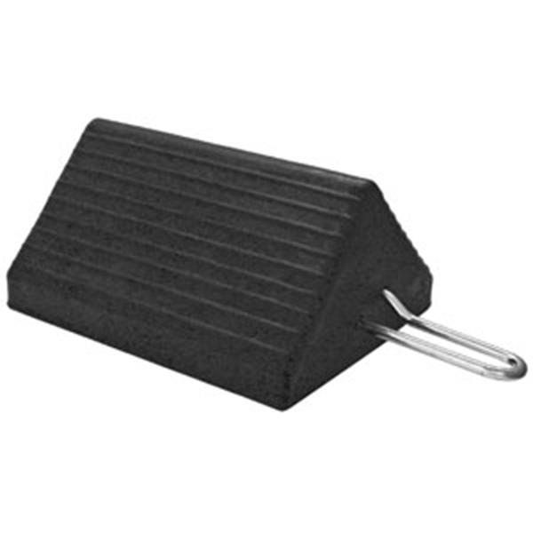 Heavy-Duty Rubber Wheel Chock w/Handle