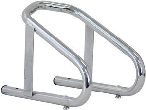 Motorcycle Wheel Chock, Chrome