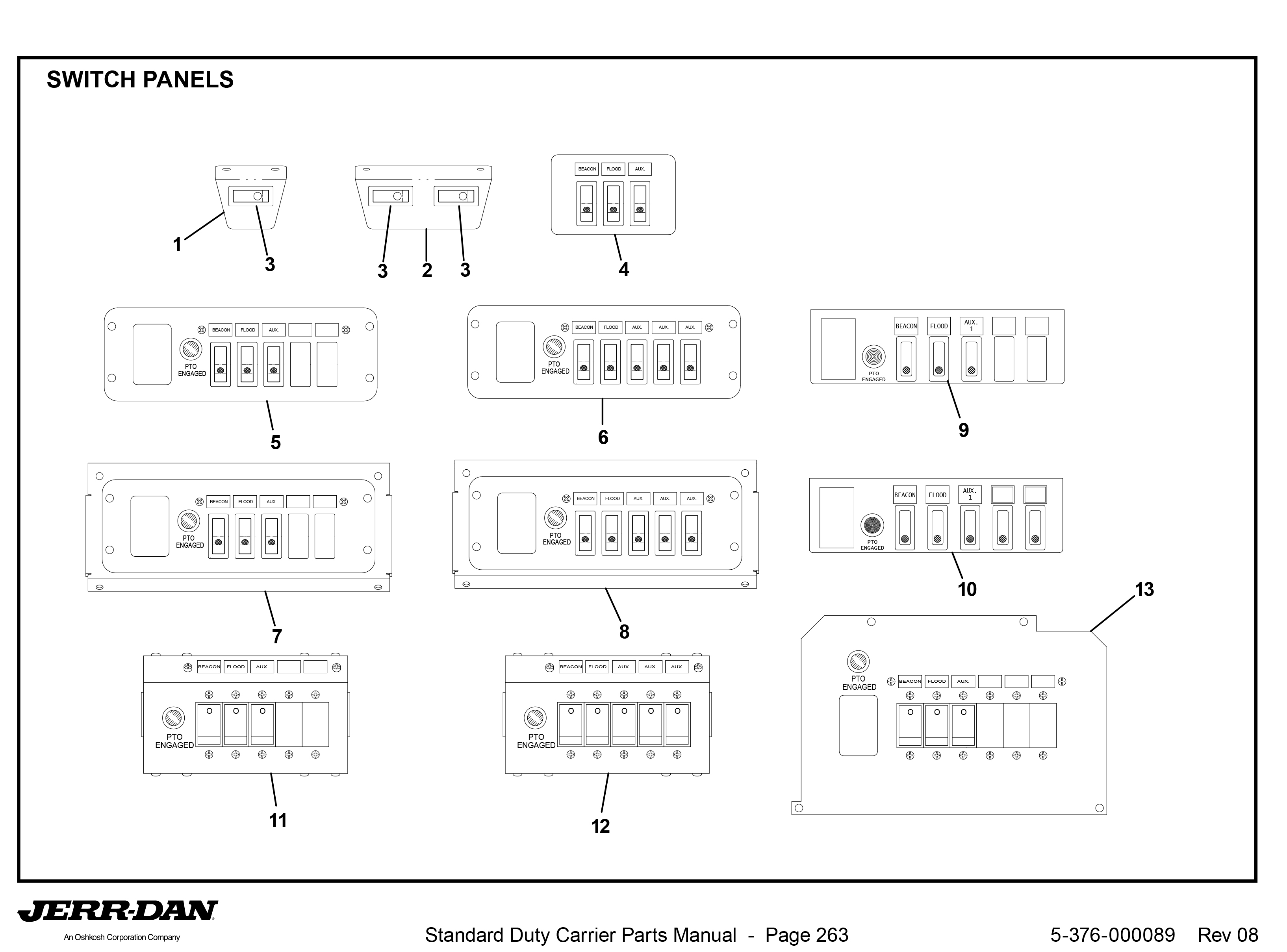 p 10311 Diagram 127 switch panels detroit wrecker sales jerr dan light bar wiring diagram at soozxer.org