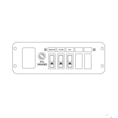 Switch Panel - 3 Function, In-Dash