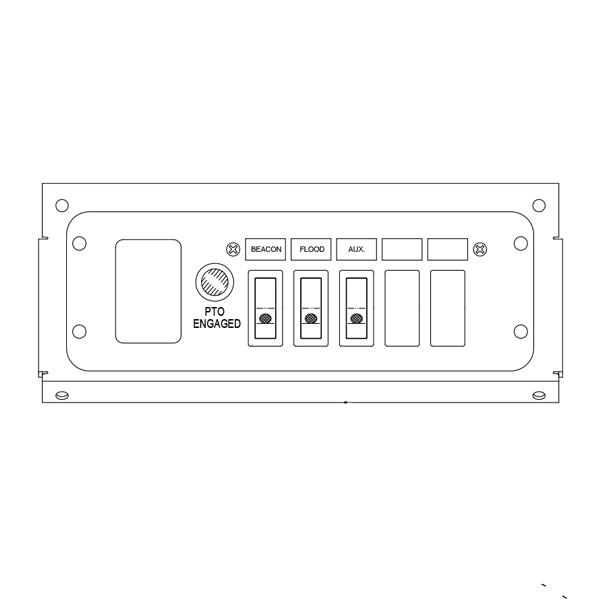 Switch Panel - 3 Function, Under Dash