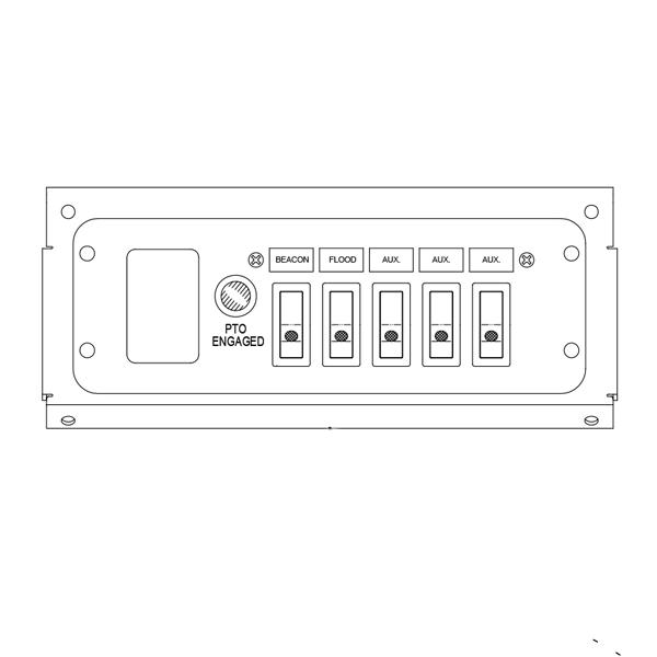 Switch Panel - 5 Function, Under Dash
