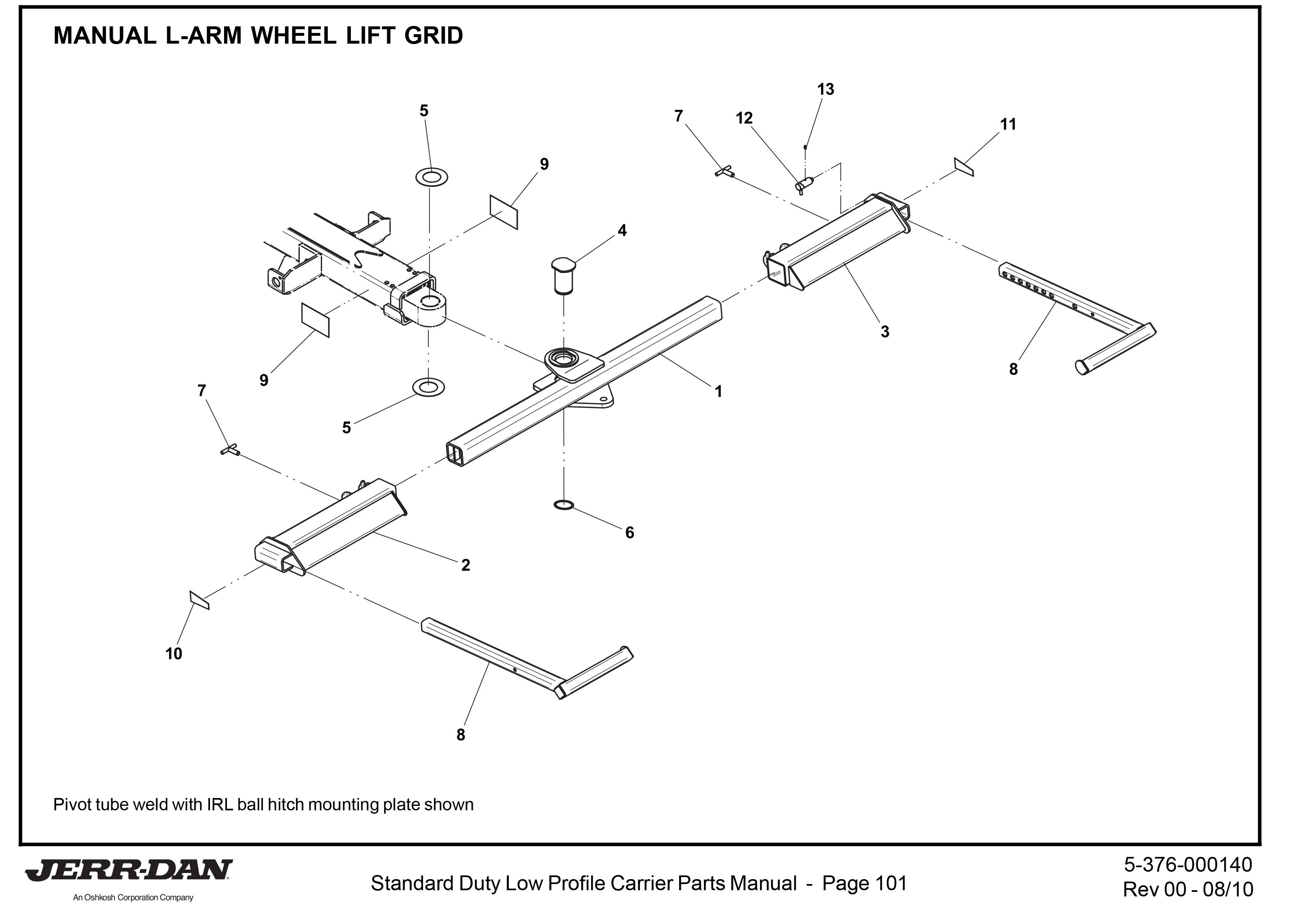 p 10787 Diagram 181 wheel lift l arms & wheel grids detroit wrecker sales dynamic wheel lift wiring diagram at fashall.co