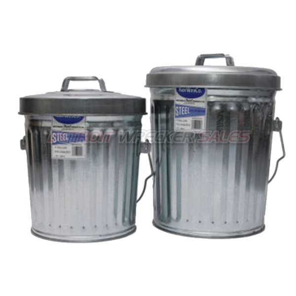 6-Gallon Galvanized Steel Trash Can with Lid