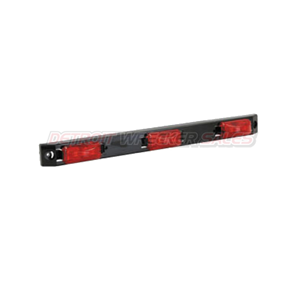 "17"" Rec. ID Bar Marker Light, 9 LED Red"