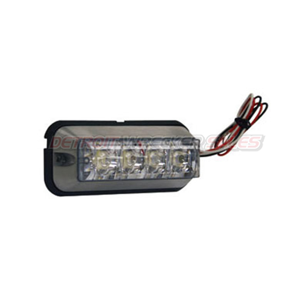 "4-7/8"" Rec. Strobe Light, 4-LED Clear"