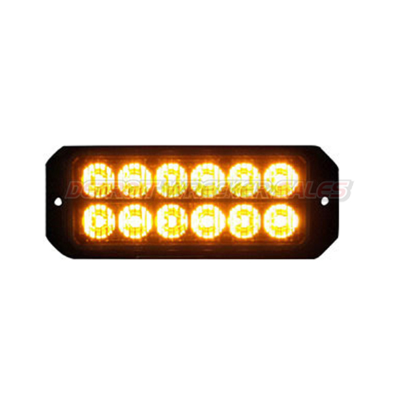 "5"" 12 LED, Light Strobe, Amber"