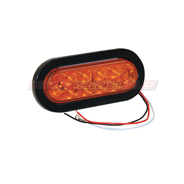 "6-1/2"" Oval Turn & Park Light, 10 LED Amber"