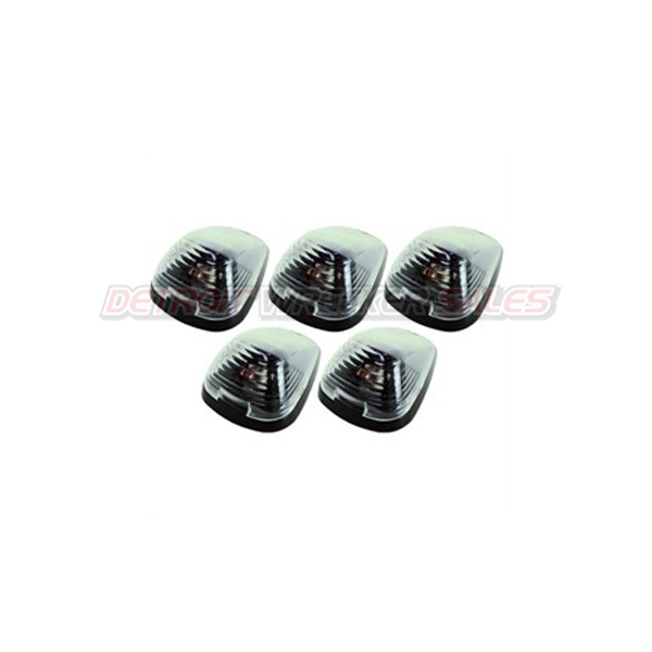 5 Strobe / Marker Light Set, Clear 5 Diode LED Roof Lights