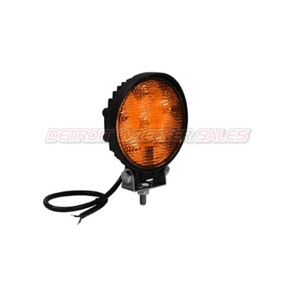 "4"" Round Quad Flash Light 4 LED Amber 12-24VDC"