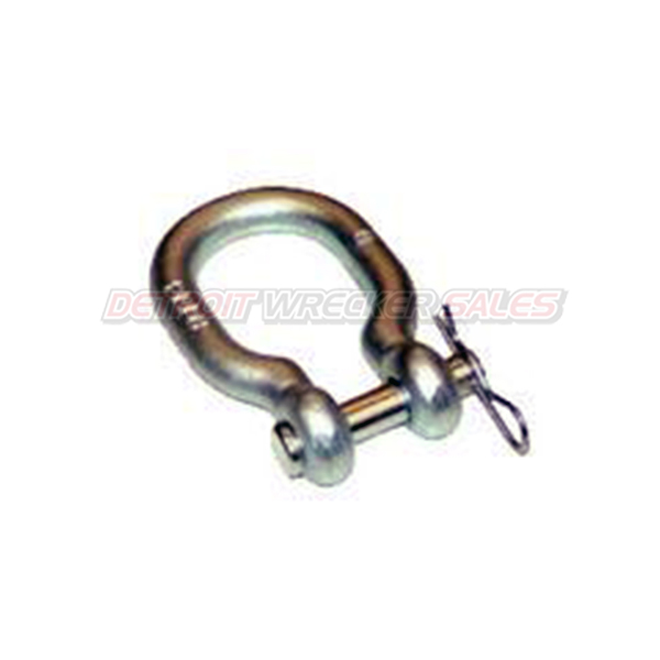 Shackle with Round Hitch Pin for Slings