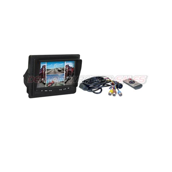 Rear Observation Camera System, Quad Screen
