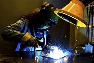 welding a tow truck repair